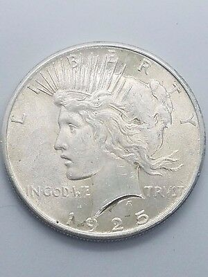 1925-P Peace Dollar Beautiful Unc Peace$; BU/MS 1925P Peace Silver Dollar #1