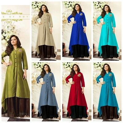 Indian Bollywood Designer Kurta Kurti  Women Dress Top With Latest Design K 13