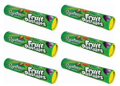 908472 6 x 125g TUBES OF ROWNTREES FRUIT PASTILLES GUMMIES TUBE! PRODUCT OF UK