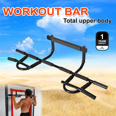Chin Pull Up Bar Wall Mounted Doorway Portable Extreme Home Fitness Workout