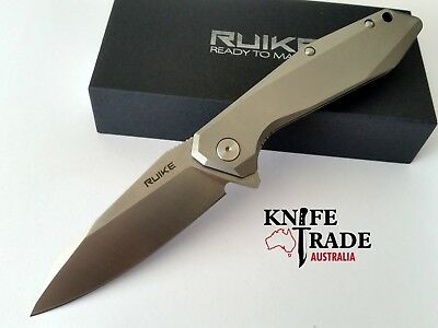 "Ruike P135-SF Folding Pocket Knife Flipper ""Beta Plus"" Lock  Sandvik14C28N EDC"