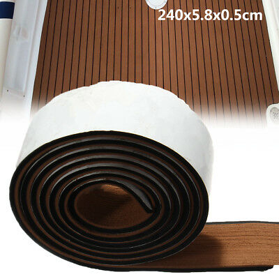 240x5.8cm EVA Marine Boat Sheet Pad Flooring Teak Decking Edges Caulking Mat
