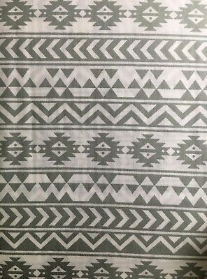 2 Piece Premium Cot Sheet 100% Cotton Tribal Grey Fitted Sheet + Pillowcase