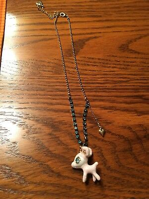 Betsey Johnson Reindeer Necklace, New, No Tags, Adjustable