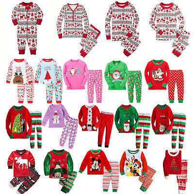 Christmas Xmas Family Matching Set Pajamas Pyjamas Sleepwear Nightwear Kid Adult