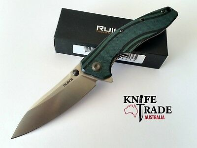 Ruike P841-L Folding Pocket Knife G10 Flipper Back Safety Lock Sandvik14C28N