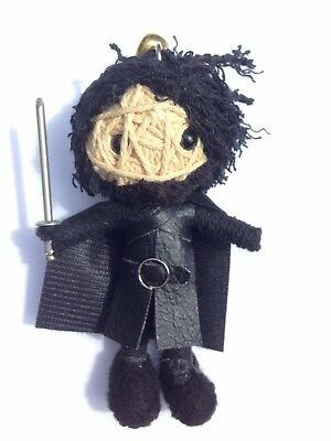 Jon Snow Game of Thrones Lucky Cosplay Voodoo String Doll Keychain Keyring USA