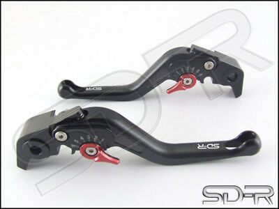07-13 Moto Guzzi 1200 SPORT Carbon Fiber inlay Short SDR Adjustable Levers Black