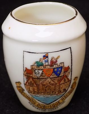 W H Goss Crested Ware 'Model of Penmaenmawr Urn' - Newcastle Under Lyme Crest