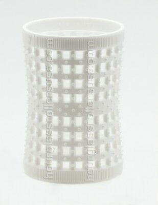 Pack of 6 - Unisex - 47mm/1.85in - Large White Hourglass Rollers All Types Hair