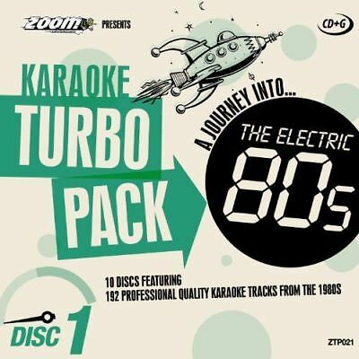 Zoom Karaoke Turbo Pack A Journey Into The Electric 80s CD + G New Sealed