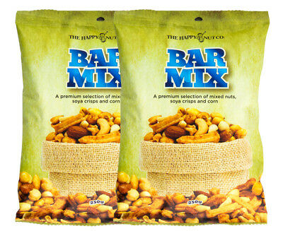 2 x The Happy Nut Co. Bar Mix 250g