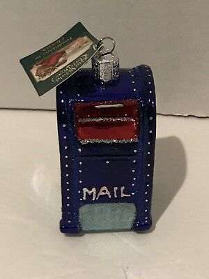 "Old World Christmas ""Mailbox"" Glass ornament NWT"