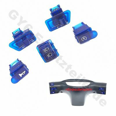SCHALTER SET 5-teilig BLAU z.B. REX RS CHINA ROLLER SCOOTER MOPED BUGGY QUAD GY6