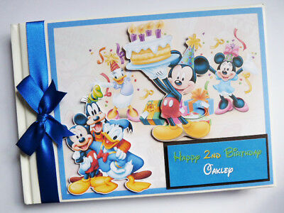 Disney Clubhouse Mickey Blue Birthday Guest Book - Any Design