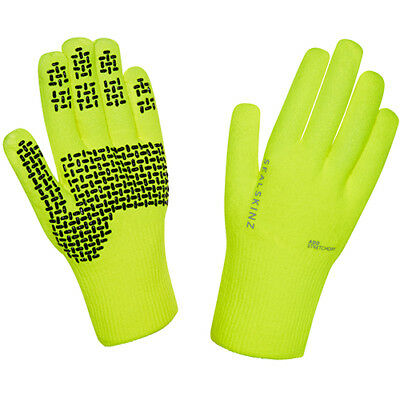 Sealskinz Ultra Grip 2015 Unisex Gloves - Hi Vis Yellow All Sizes
