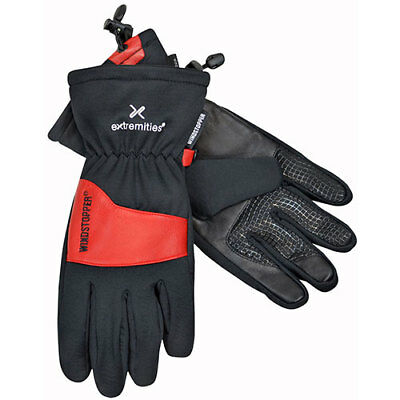 Extremities Windy Pro Mens Gloves - Black Red All Sizes
