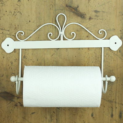 Scroll Kitchen Roll Holder cream shabby chic vintage wall mounted gift sku685