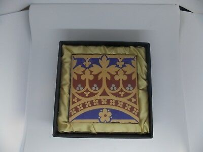 Minton tile from St Stephen's Hall, the Palace of Westminster designed by Pugin