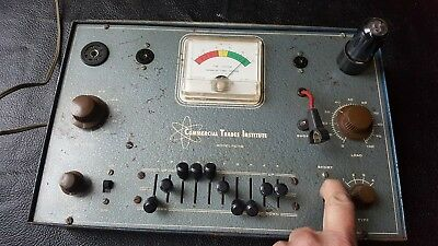 Vintage Commercial Trades Institute Tube Checker Tester Röhre Prüfgerät,Amp etc