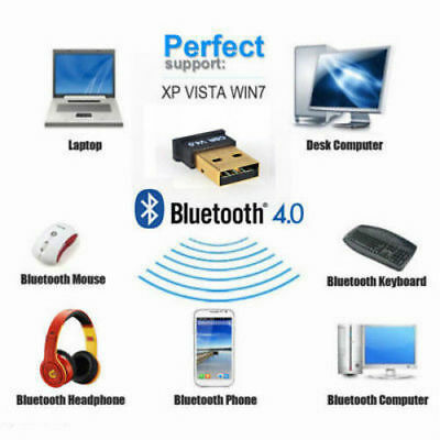New Bluetooth CSR 4.0 3Mbps USB Adapter Mini Dongle Dual Wireless For 7 8 10 XP
