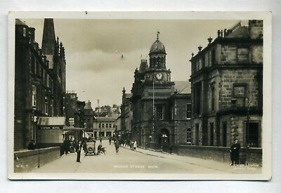 WICK   Bridge Street  with Station Hotel and people  RP