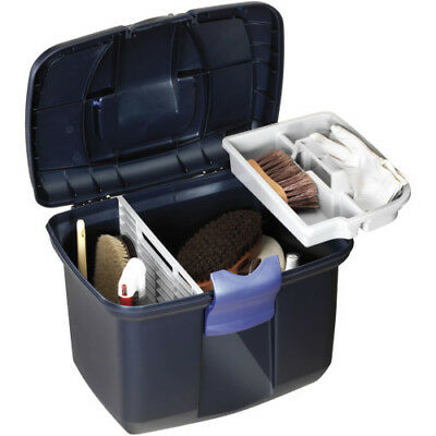 Plastica Panaro Tack Unisex Horse Care Grooming Box - Midnight Blue All Sizes
