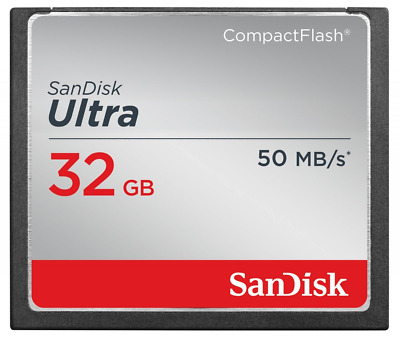 SanDisk Ultra 32GB CompactFlash Memory Card Speed Up To 50MB/s- SDCFHS-032G-G46