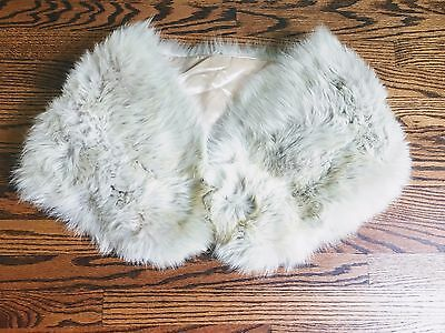 Vintage Luxurious Siberian Fur Shoulder Cape Shawl Stole