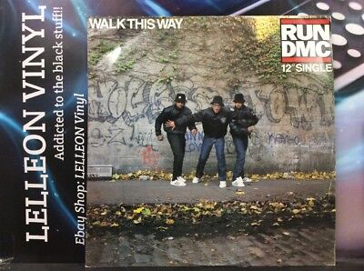 "Run DMC Walk This Way My Adidas 12"" Single Vinyl LONX104 A1/B1 Rap HipHop 80's"