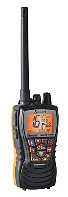 Cobra MRHH500FLTBT Floating VHF Radio with Bluetooth Wireless Technology and Rew
