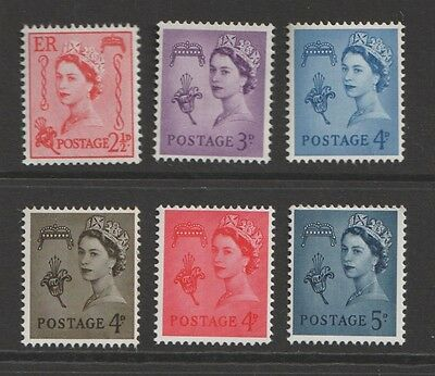 GB QE Guernsey selection of 6 stamps MNH