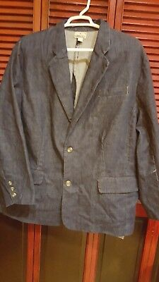 Liberty Blues Men's Blue Jean Denim Blazer Sports Coat 2 Button XL never Worn