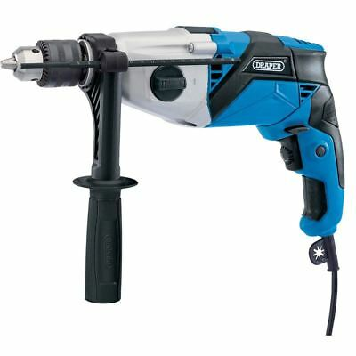 Draper 20502 230V 1010W Hammer Drill 2 Speed Gearbox Variable Speed Control