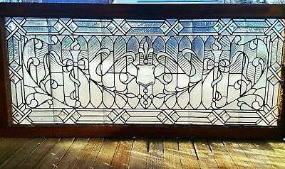 Large Victorian Philadelphia Stained Jeweled Window
