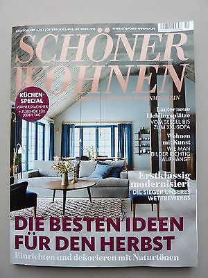 zeitschrift sch ner wohnen oktober 2015 stillvoll. Black Bedroom Furniture Sets. Home Design Ideas