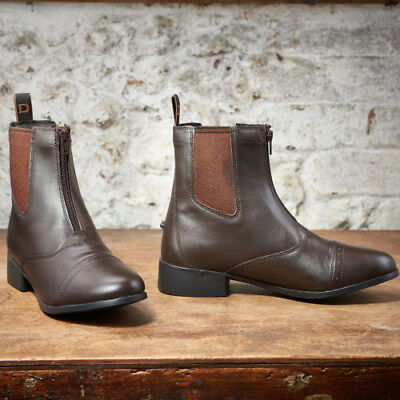 Dublin Elevation Zip Unisex Boots Paddock - Brown All Sizes