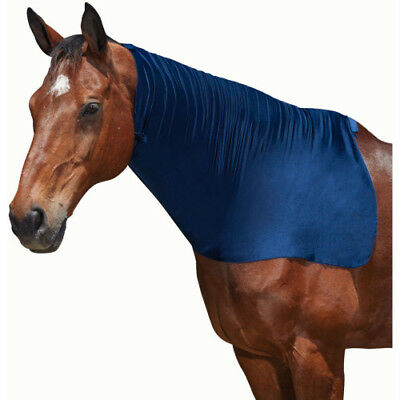 Weatherbeeta Neck Unisex Horse Rug Stretch Hood - Navy All Sizes