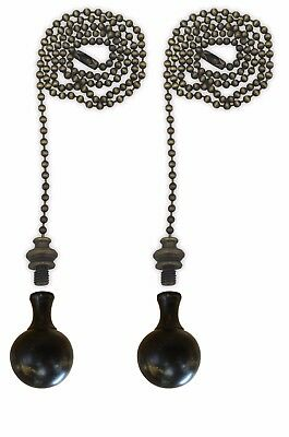 Royal Designs Fan Pull Chain with Large Ball Finial – Antique Brass