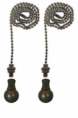 Royal Designs Fan Pull Chain with Small Ball Finial – Antique Brass