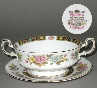 Rosina Queen's Cathay English Bone China Cream Soup with stand