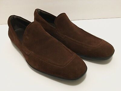 Tod's Brown Suede Penny Loafer Driving Shoes. UK 10 (Mens US Size - 11). $495 •
