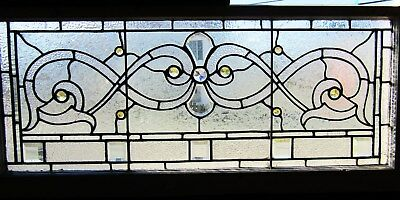Antique Stained Glass Transom Window 17 By 40