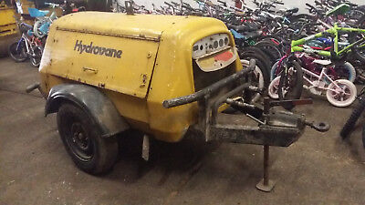 Hydrovane 66CFM Diesel Air Compressor Road Tow Type In Good Working Order