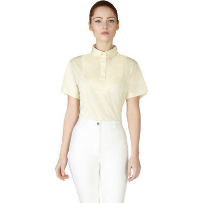 Shires Ladies Short Sleeve Tie Womens Shirt Competition - Yellow All Sizes