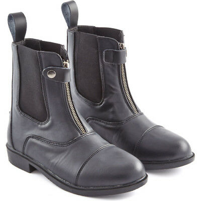 Just Togs Essentials Front Zip Womens Boots Jodhpur - Black All Sizes