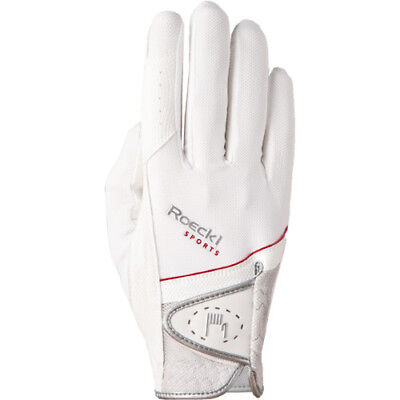 Roeckl Madrid Unisex Gloves Competition Glove - White All Sizes