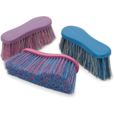Shires Long Bristle Unisex Horse Care Dandy Brush - Pink One Size