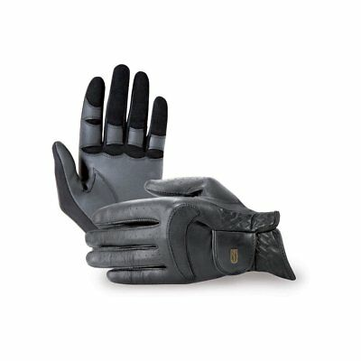 Tredstep Dressage Pro Unisex Gloves Competition Glove - Black All Sizes