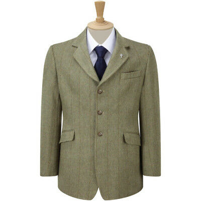 Caldene Mens Kent Derby Tweed Jacket Competition Jackets - Green/brown All Sizes